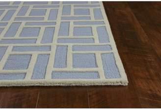 Blue Area Libby Langdon Soho Brick Hand-Tufted Wool Ice Rug