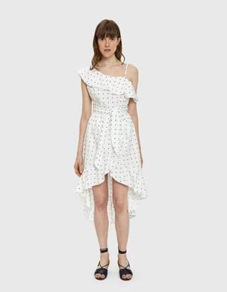 Farrow Julia Polka Dot High-Low Dress
