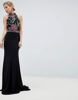 Jovani Embroided Maxi Dress