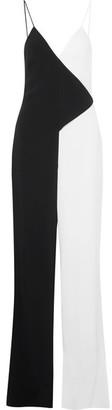 Cushnie et Ochs - Two-tone Crepe Jumpsuit - Black $1,795 thestylecure.com