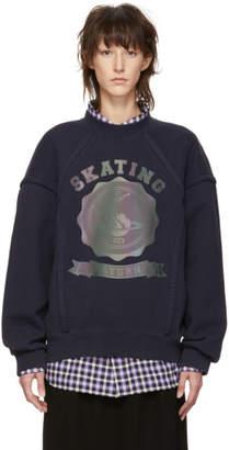 Maison Margiela Navy Skating Saturn Sweatshirt