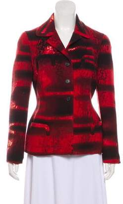 Prada Button-Up Wool Blazer