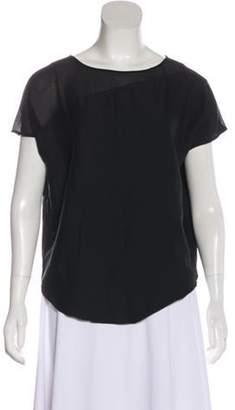 Helmut Lang Silk-Blend Asymmetrical Blouse Black Silk-Blend Asymmetrical Blouse