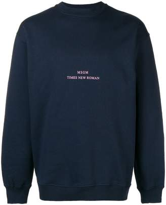 MSGM 'Times new Roman' print sweater
