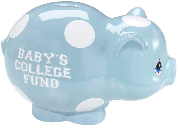 Precious Moments Baby S College Fund Quot Blue Piggy Bank