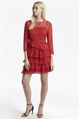 French Connection Allegro Silk Chiffon Ruffle Dress