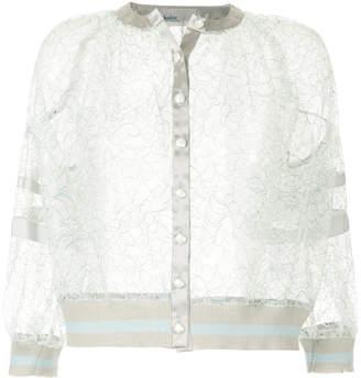 Kolor cropped lace jacket