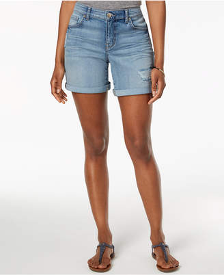 Style&Co. Style & Co Rolled Denim Shorts, Created for Macy's
