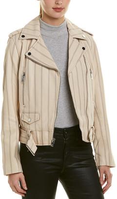 Derek Lam 10 Crosby Belted Leather Jacket