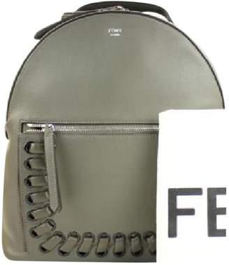 Fendi Grey Leather Backpacks
