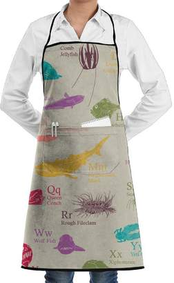 Unknown Personalized Aprons Professional Bib Apron For Women Men Girl Kids Gifts Kitchen Decorations With Pocket