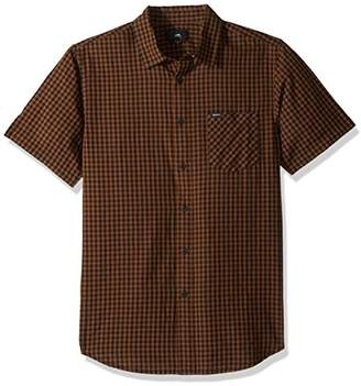 Obey Men's Aston Woven Short Sleeve Button up Shirt