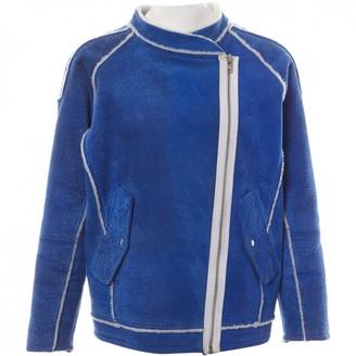 Designers Remix Blue Leather Jackets