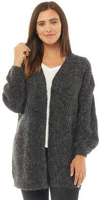 b1824846fa Only Womens Havana Long Cardigan Dark Grey Melange