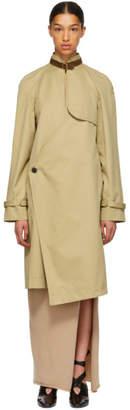 J.W.Anderson Beige Asymmetric Trench Coat