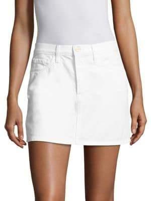 Frame Le Mini White Denim Skirt