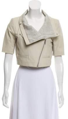 Yigal Azrouel Short Sleeve Leather Jacket