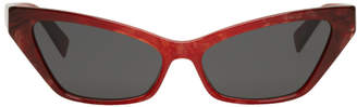 Oliver Peoples pour Alain Mikli Red Le Matin Sunglasses