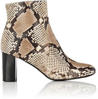 Barneys New York Women's Side-Zip Leather Ankle Boots $425 thestylecure.com