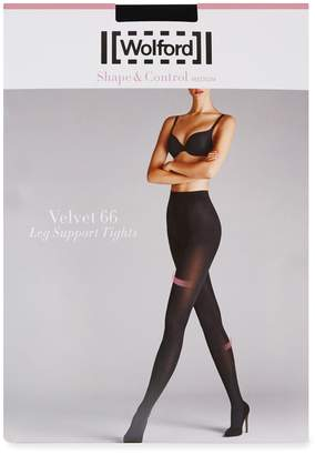 68d27e437 Wolford Velvet Black 66 Denier Support Tights