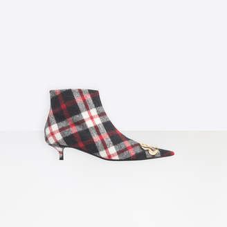 Balenciaga Pointed toe wool booties with kitten heel