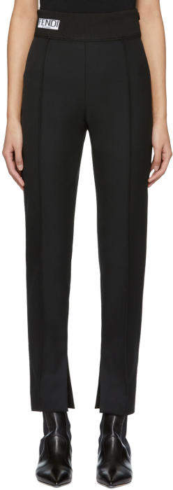Fendi Black Logo Trousers