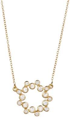 Rivka Friedman Felix + Lola 18K Yellow Gold Clad White Topaz Ring Statement Necklace