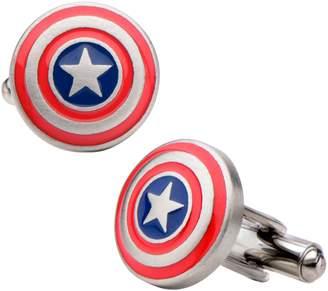 Marvel Comics Marvel Stainless Steel Captain America Logo Cufflinks