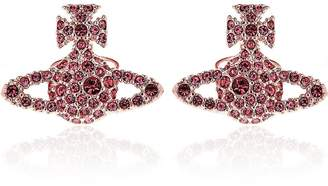 Vivienne Westwood Grace Bas Relief Stud Earrings-Pink