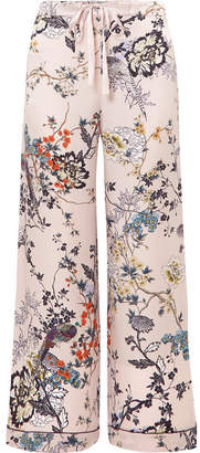 MENG - Printed Silk-satin Pajama Pants - Pastel pink