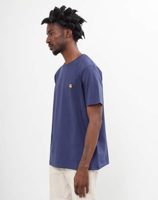 Carhartt WIP Chase Short Sleeve T-Shirt Navy