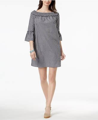 Charter Club Cotton Off-The-Shoulder Shift Dress, Created for Macy's