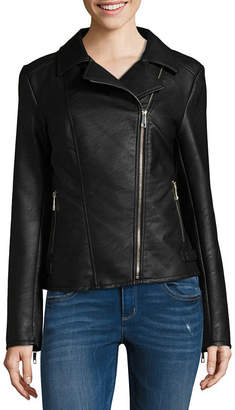A.N.A Faux Leather Midweight Motorcycle Jacket-Tall