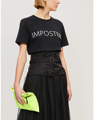 House of Holland x Moon Club 'imposter' cotton-jersey T-shirt