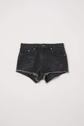 H&M Denim Shorts Skinny Regular - Gray
