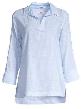 a8a14649 at Saks Fifth Avenue · Vineyard Vines Women's Lucaya Resort Stripe Shirt -  Hydrangea - Size XS