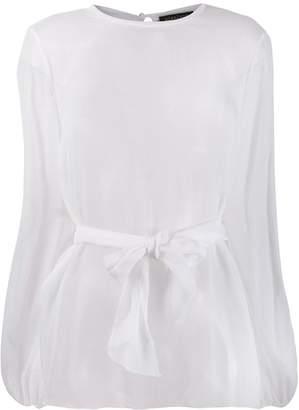 Gianluca Capannolo sheer long-sleeved blouse