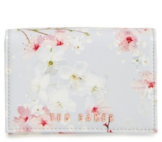 Women's Ted Baker London Oriental Blossom Small Foldover Wallet - Grey $75 thestylecure.com