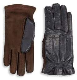 Brunello Cucinelli Cashmere& Leather Gloves