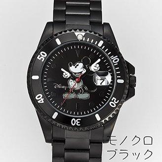 Disney (ディズニー) - ディズニー世界限定 ダイヤモンドマリーン時計 モノクロブラック
