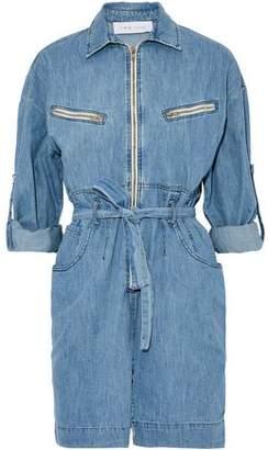 IRO Phibie Belted Denim Mini Dress
