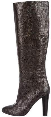 Fendi Metallic Cap-Toe Boots