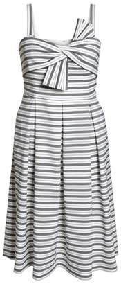 1901 Stripe Bow Front Dress