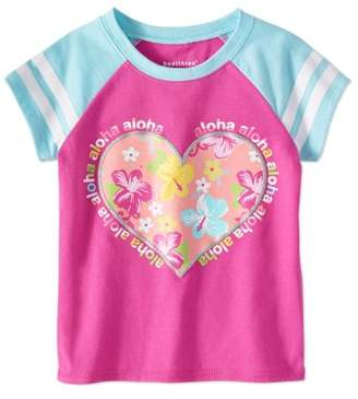 Healthtex Baby Toddler Girl Tropical Floral Heart Graphic T-Shirt