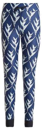 The Upside Daylilies Print Performance Leggings - Womens - Navy Multi