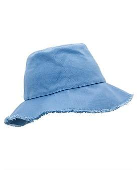 Gregory Ladner Canvas Bucket Hat W Frayed Edge