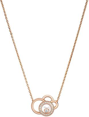 Chopard Rose Gold and Diamond Happy Dreams Necklace