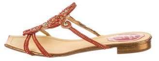 Rene Caovilla Embellished Slide Sandals