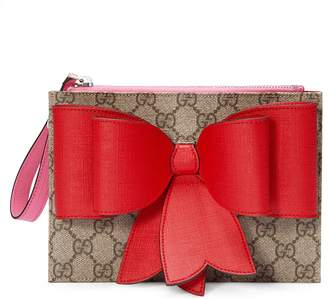 Children's GG Supreme bow wristlet $425 thestylecure.com