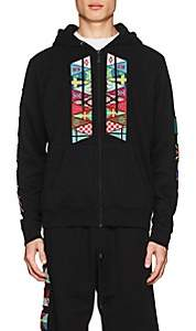 Marcelo Burlon County of Milan MEN'S FLAG PATCH COTTON TERRY HOODIE